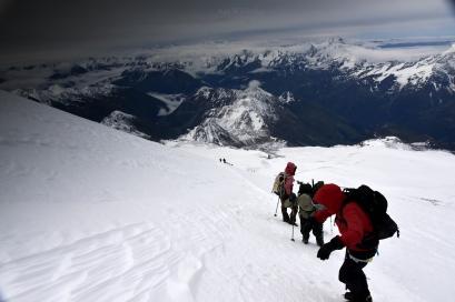 W drodze na Elbrus.